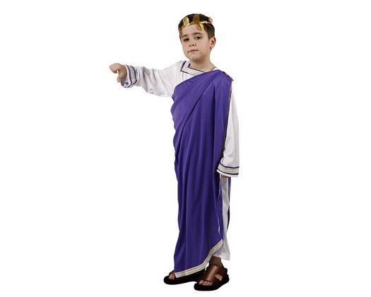 Disfraz de emperador romano púrpura, 10-12 años
