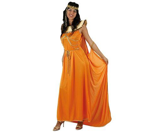Disfraz de reina egipcia naranja, adulto Talla 2 (M-L)