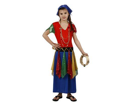 Disfraz de gitana zingara, Talla 4 (10 – 12 años)