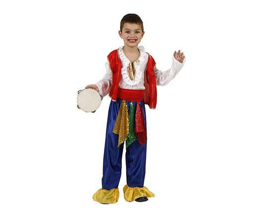 Disfraz de gitano zingaro, Talla 3 (7 – 9 años)