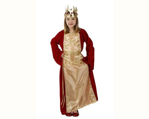 Disfraz de reina renacimiento, Talla 4 (10 – 12 años)