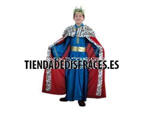 Disfraz de Rey Mago azul lujo 2-4 años económico