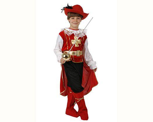 Disfraz de mosquetero rojo lujo Talla 3 (7 – 9 años)