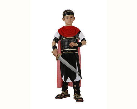 Disfraz de guerrero romano capa, 7-9 años
