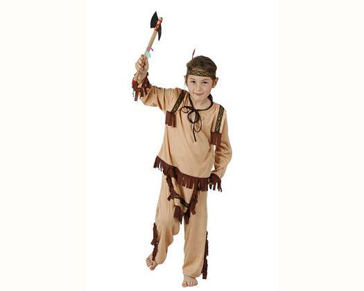 Disfraz de guerrero indio, Talla 4 (10 – 12 años)