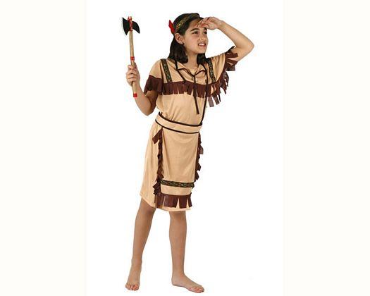 Disfraz de guerrera india, Talla 2 (5 – 6 años)