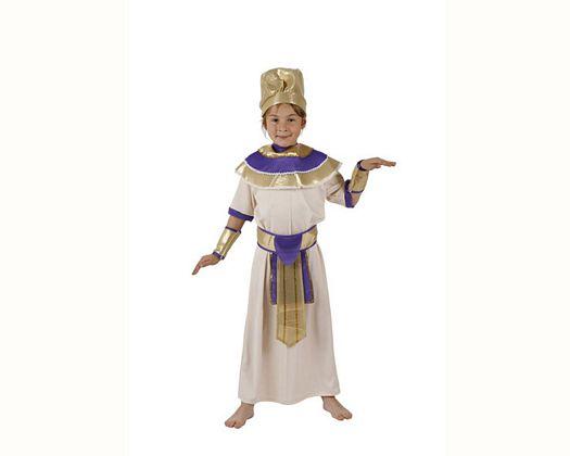 Disfraz de rey egipcio violeta, 5-6 años