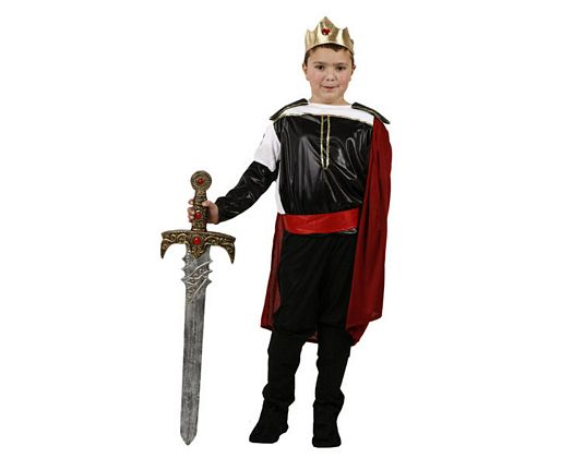 Disfraz de rey medieval, 7-9 años