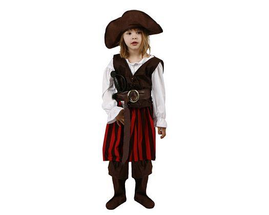 Disfraz de pirata rayas, Talla 3 (7 – 9 años)