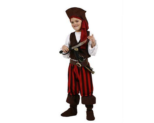 Disfraz de pirata rayas niño, Talla 1 (3 – 4 años)