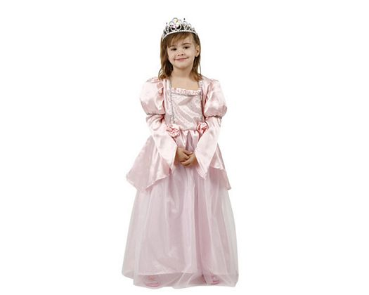 Disfraz de princesa rosa, Talla 2 (5 – 6 años)
