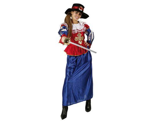 Disfraz de dama mosquetera, adulto