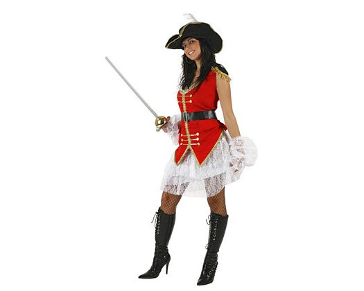 Disfraz de capitana pirata sexy, Talla 2 (M-L)