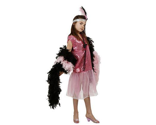 Disfraz de charleston rosa, 10-12 años