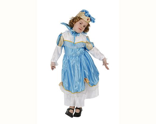 Disfraz de princesa azul, Talla 3 (7 – 9 años)