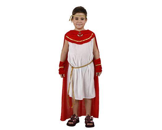 Disfraz de romano rojo, 7-9 años