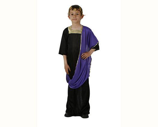 Disfraz de césar negro, 7-9 años