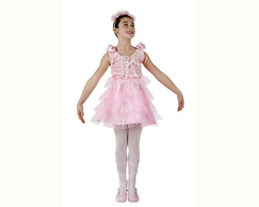 Disfraz de bailarina rosa, 5-6 años