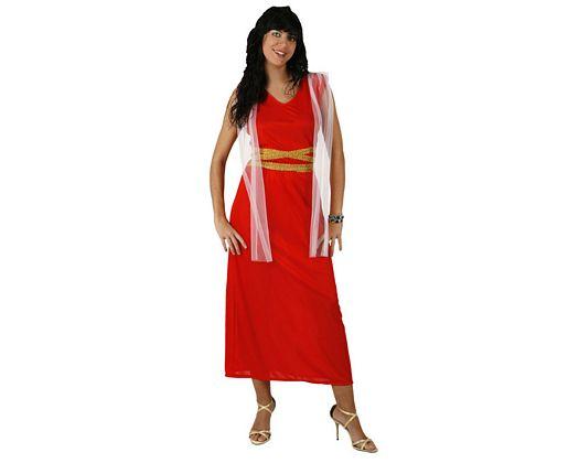 Disfraz de romana rojo, adulto