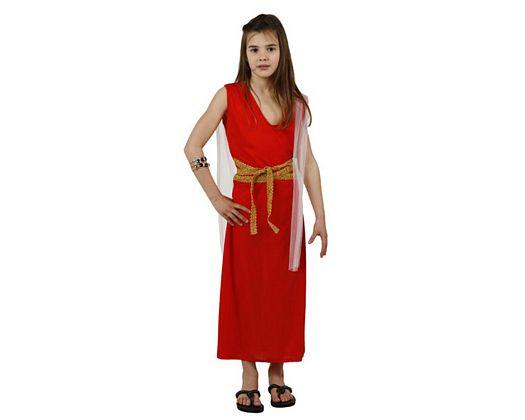 Disfraz de romana rojo, Talla 1 (3 – 4 años)