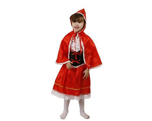 Disfraz de caperuza roja, Talla 1 (3 – 4 años)