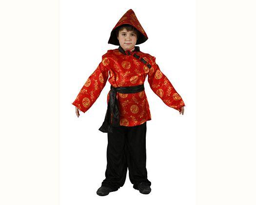 Disfraz de chino rojo, Talla 4 (10 – 12 años)