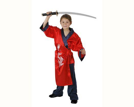 Disfraz de samurai rojo, Talla 4 (10 – 12 años)