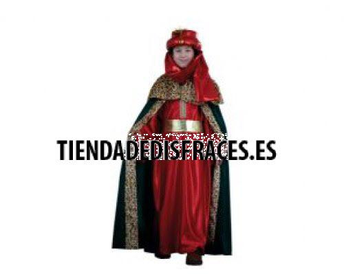 Disfraz de Rey Mago rojo lujo 2-4 años económico