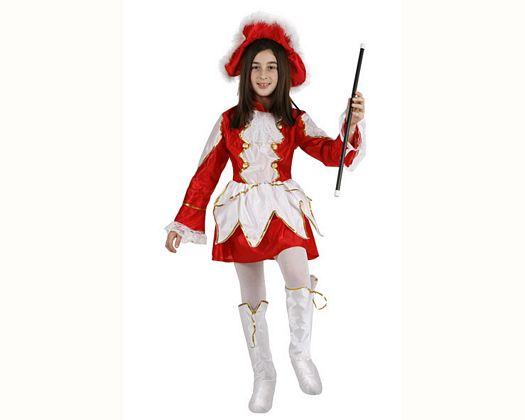 Disfraz de majorette rojo, Talla 3 (7 – 9 años)