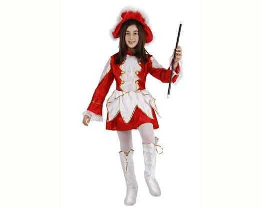 Disfraz de majorette rojo, 10-12 años