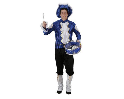 Disfraz de musico azul, Talla 2 (M-L)
