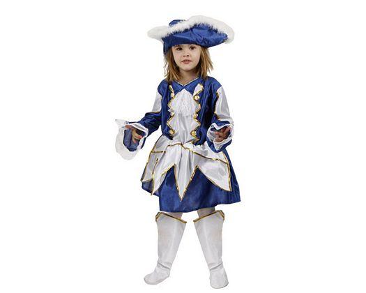 Disfraz de majorette azul, Talla 1 (3 – 4 años)