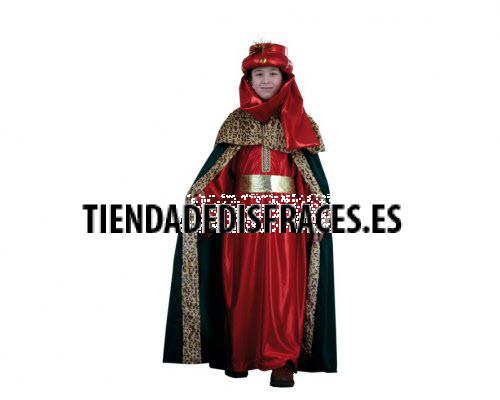 Disfraz de Rey Mago rojo lujo 4-6 años económico