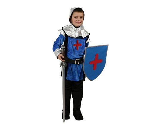 Disfraz de caballero medieval azul, 5-6