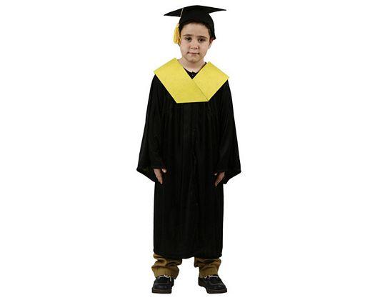 Disfraz de licenciado amarillo Talla 4 (10 – 12 años)