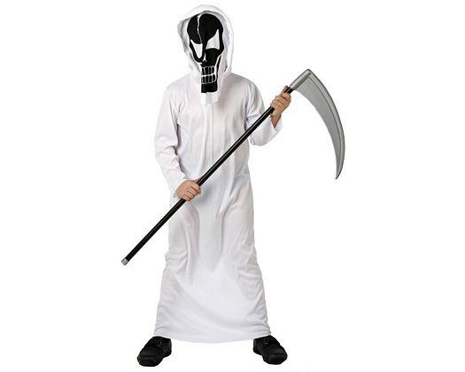 Disfraz de esqueleto de la muerte, talla 2 (5-6 años)