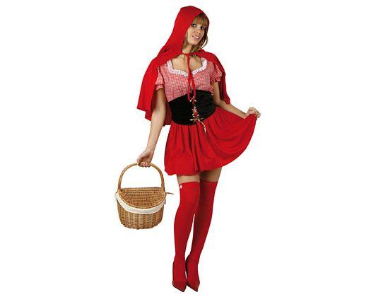 Disfraz de caperuza roja, xs-s