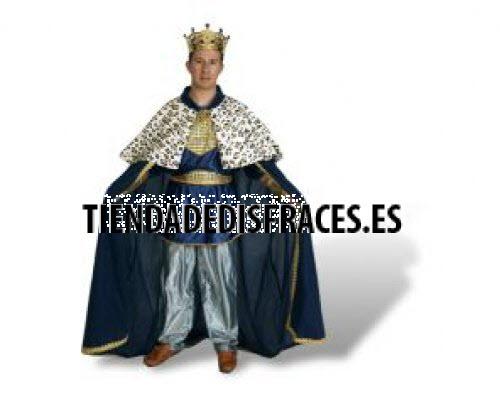Disfraz de Rey Mago adulto azul económico