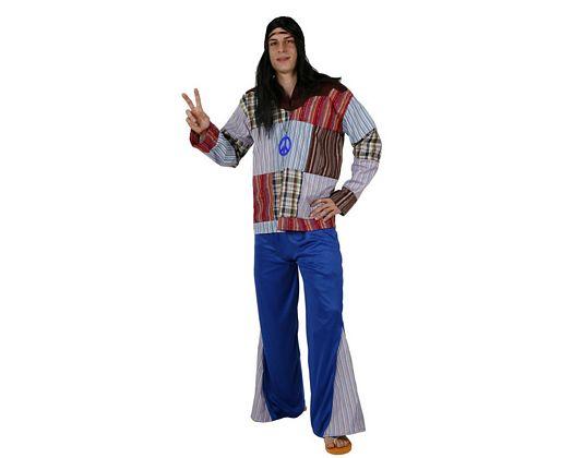Disfraz de hippie, adulto