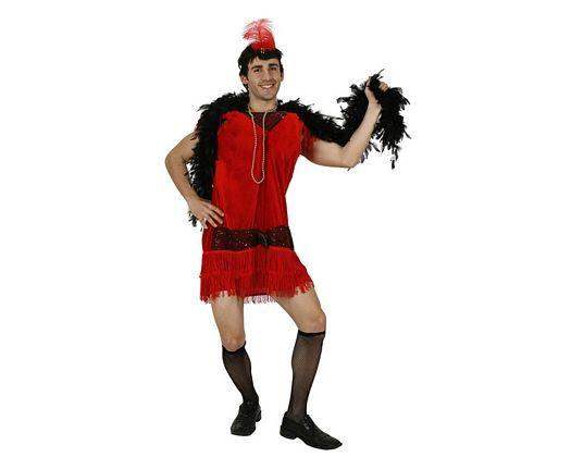 Disfraz de charleston rojo adulto Talla 2 (M-L)