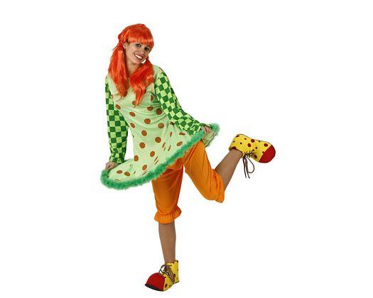 Disfraz de payaso verde, adulto