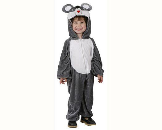 Disfraz de raton gris, Talla 2 (5 – 6 años)