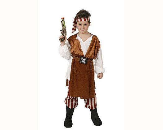 Disfraz de pirata caribeño, 10-12 años
