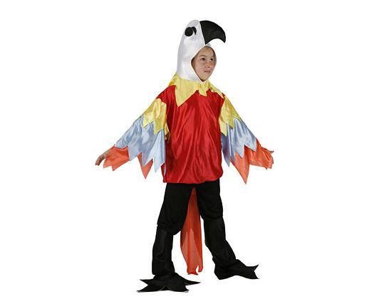 Disfraz de loro multicolor, Talla 1 (3 – 4 años)