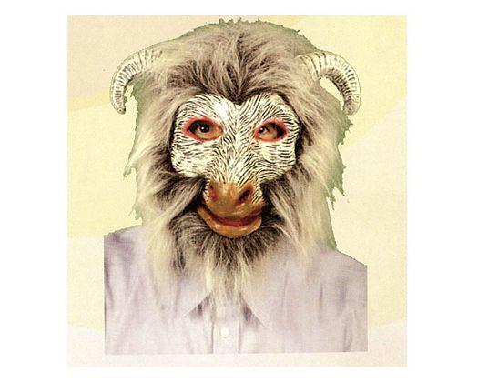 Máscara carnero con pelo