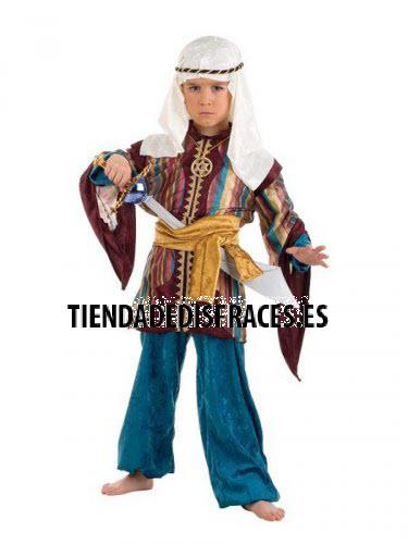 Disfraz de Paje Tuareg Turquesa infantil deluxe