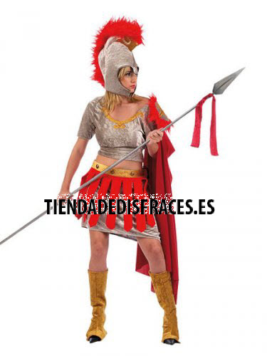 Disfraz de Romana tela adulto deluxe