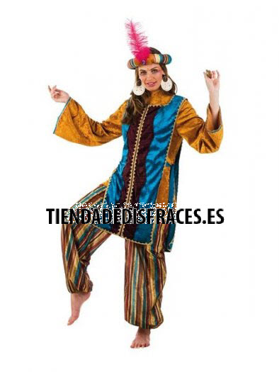 Disfraz de Paje Jazmin Turquesa adulta deluxe