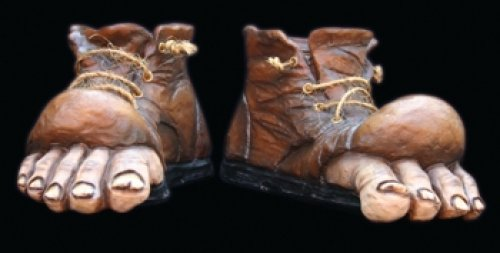 Accesorio botas con pie por fuera latex
