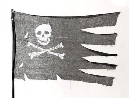 Bandera pirata halloween 76x127cm